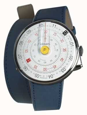 Klokers Klok 01 jaune tête de montre bleu indigo double sangle KLOK-01-D1+KLINK-02-380C3
