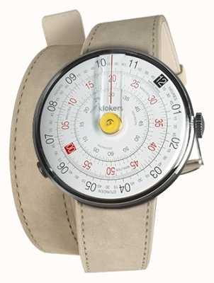 Klokers Klok 01 jaune tête de montre gris alcantara double sangle KLOK-01-D1+KLINK-02-380C6