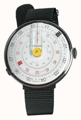 Klokers Klok 01 jaune tête de montre noir textile sangle unique KLOK-01-D1+KLINK-03-MC3