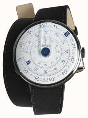 Klokers Klok 01 bleu tête de montre mat noir double sangle KLOK-01-D4.1+KLINK-02-380C2