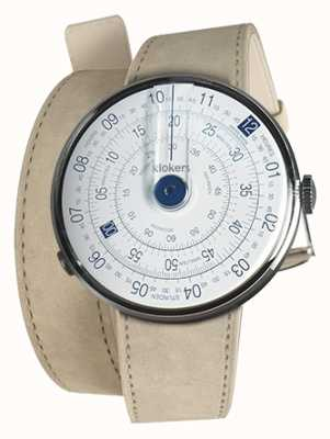 Klokers Klok 01 bleu tête de montre gris alcantara double sangle KLOK-01-D4.1+KLINK-02-380C6