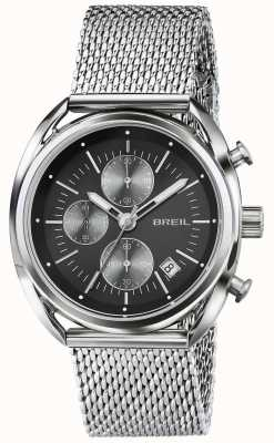 Breil Beaubourg en acier inoxydable chronographe cadran noir maille TW1513