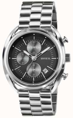 Breil Bracelet cadran noir chronographe en acier inoxydable Beaubourg TW1514