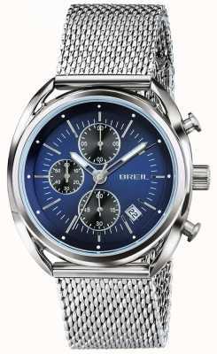 Breil Beaubourg chronographe en acier inoxydable cadran bleu maille TW1529