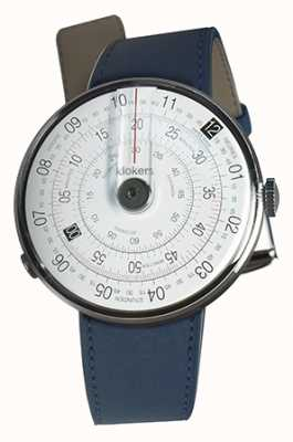 Klokers Klok 01 noir tête de montre indigo bleu unique sangle KLOK-01-D2+KLINK-01-MC3