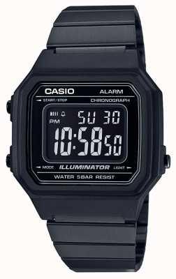 Casio Illuminateur numérique classique vintage noir enduit IP B650WB-1BEF