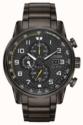 Citizen Bracelet plaqué ip sport gris chronographe sport pour homme CA0687-58E