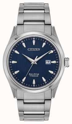 Citizen Bracelet titane bleu argenté super titane BM7360-82L