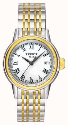 Tissot Carson femme quartz deux tons suisse date T0852102201100