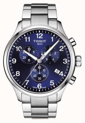 Tissot Bracelet en acier inoxydable chrono xl classic bleu pour homme T1166171104701