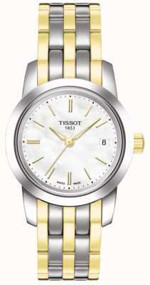 Tissot Womens classique rêve blanc vadrouille cadran deux tons bracelet T0332102211100