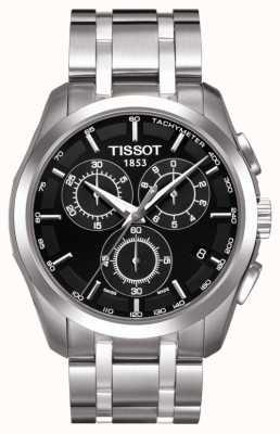 Tissot Mens coutourier chronographe cadran noir en acier inoxydable T0356171105100