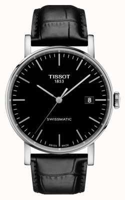 Tissot Mens swissmatic noir bracelet en cuir noir à chaque fois T1094071605100