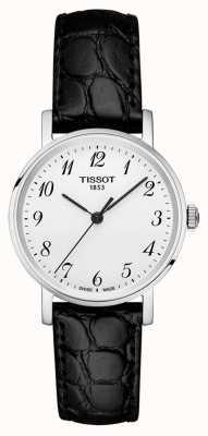 Tissot Womens everytime bracelet noir argent cadran chiffres arabes T1092101603200