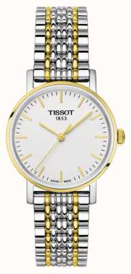 Tissot Womens everytime deux tons bracelet plaqué or T1092102203100