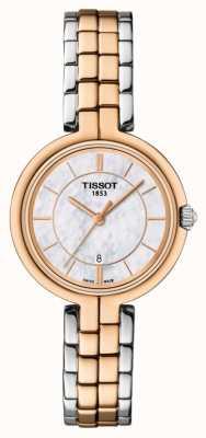 Tissot Womens flamant rose or plaqué mop cadran deux tons bracelet T0942102211100