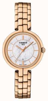 Tissot Femmes flamant rose or plaqué or plaqué nacre cadran T0942103311101