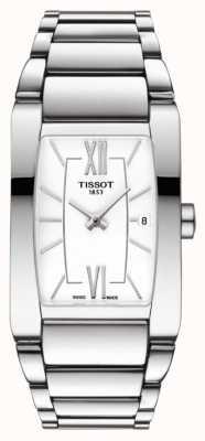Tissot Womens generosi-t acier inoxydable blanc cadran tonneau date T1053091101800