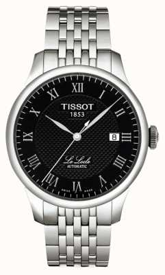 Tissot Mens le locle powermatic 80 noir cadran en acier inoxydable T0064071105300
