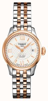 Tissot Womens le locle automatique deux tons or rose pvd T41218333