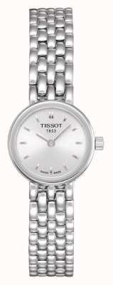 Tissot Womens belle bracelet en acier inoxydable plaqué argent cadran T0580091103100