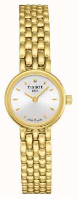 Tissot Womens belle plaqué or bracelet plaqué argent cadran T0580093303100