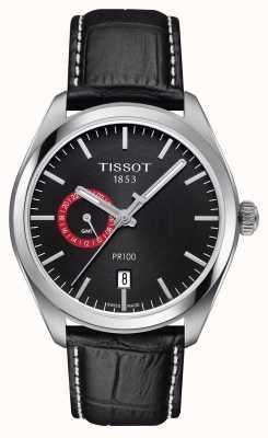 Tissot Courroie noire en cuir noir pour homme T1014521605100