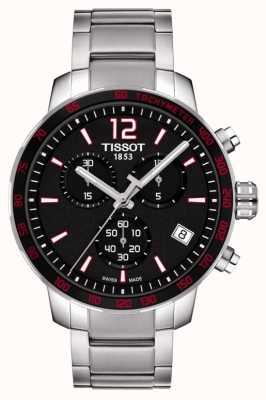 Tissot Mens quickster chronographe cadran noir en acier inoxydable T0954171105700