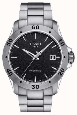 Tissot Bracelet en acier inoxydable swissmatic noir v8 pour homme T1064071105100