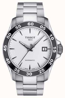 Tissot Mens v8 swissmatic argent cadran en acier inoxydable bracelet T1064071103100
