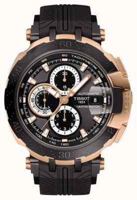 Tissot Bracelet noir homme édition limitée motogp t-course automatique T0924272706101