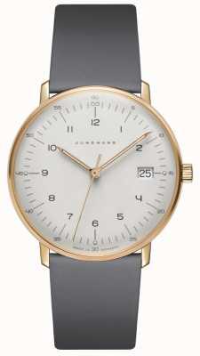 Junghans Max bill damen montre en cuir gris quartz 047/7854.04