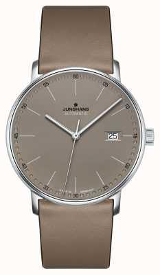 Junghans Former une montre à bracelet en cuir marron automatique 027/4832.00