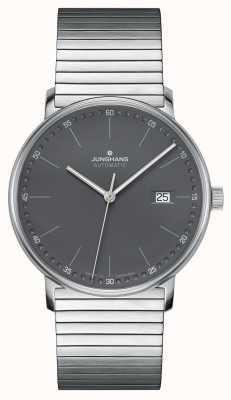 Junghans Formez une montre-bracelet automatique en acier inoxydable 027/4833.44