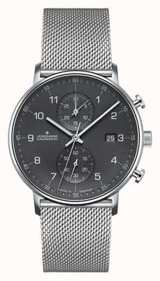 Junghans Bracelet en maille argenté pour chronographe Form C pour homme 041/4877.44