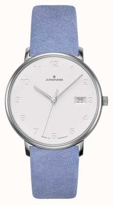 Junghans Forme sangle de veau bleu clair damen 047/4852.00