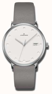 Junghans Forme sangle de veau gris damen 047/4853.00