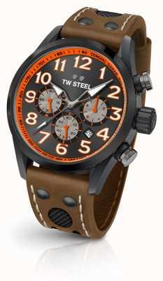 TW Steel Coronel dakar édition limitée bracelet en cuir marron cadran noir TW975