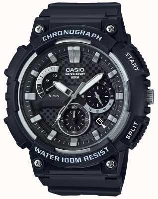 Casio Chronographe boîtier en résine noire bracelet en résine noire affichage de la date MCW-200H-1AVEF