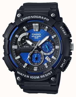 Casio Chronographe boîtier en résine noire bracelet en résine noire date affichage MCW-200H-2AVEF