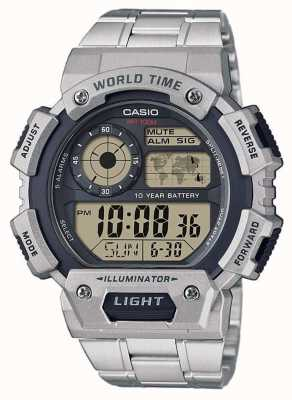 Casio Chronographe d'alarme d'heure du monde AE-1400WHD-1AVEF