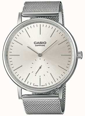 Casio Bracelet en maille saphir en acier inoxydable LTP-E148M-7AEF