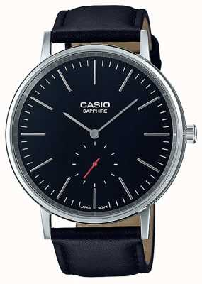 Casio Bracelet en cuir véritable noir saphir LTP-E148L-1AEF