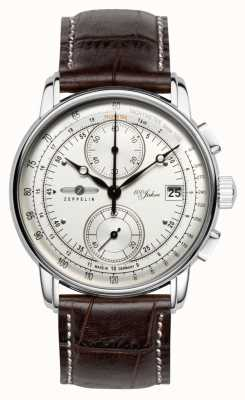 Zeppelin 100 ans chronographe date affichage en acier inoxydable 8670-1