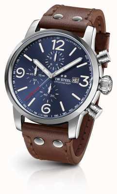 TW Steel Maverick calibre chronographe cadran bleu foncé sunray MS104