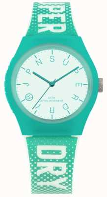 Superdry Bracelet urbain en silicone lueur turquoise SYL224N