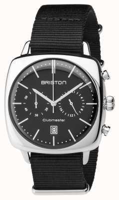Briston Mens clubmaster vintage en acier chronographe noir textile 17140.PS.V.1.NB