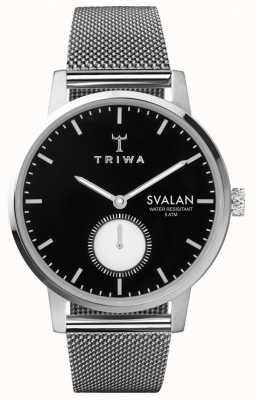 Triwa Ebony svalan cadran noir bracelet en acier inoxydable SVST103-MS121212