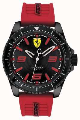 Scuderia Ferrari Xx kers cadran noir bracelet en caoutchouc rouge 0830498