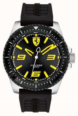 Scuderia Ferrari Xx kers noir cadran noir recouvert de silicone noir bracelet en caoutchouc 0830487